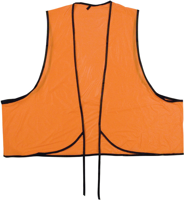 Safety Orange Vinyl Tie Front Safety Vest 48665874b4d