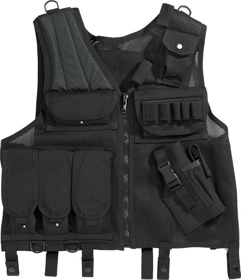 Black Military Quick Draw Tactical Gun Holster Vest 55316717b1a