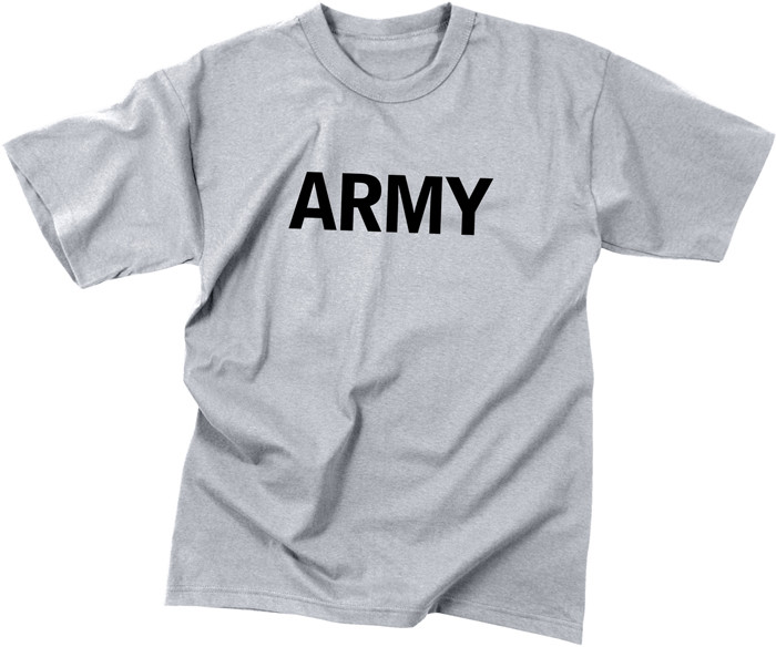 Grey Army Physical Training Kids Military Tactical T-Shirt 516ec827c53