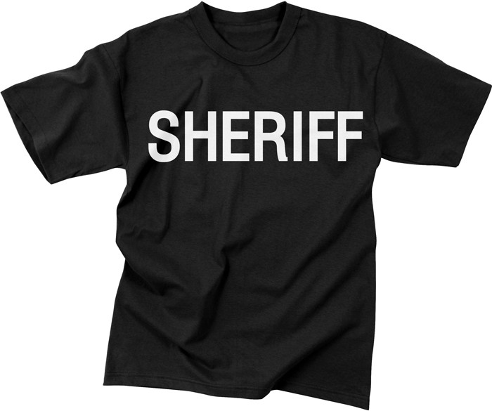 Black Law Enforcement Sheriff 2 Sided Short Sleeve T-Shirt 6dc3729e380