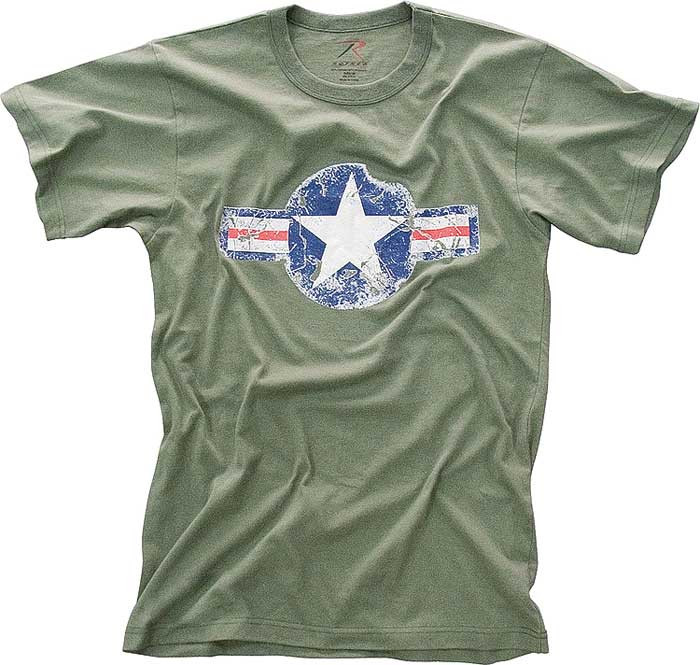 More Views. Olive Drab Army Air Corp Star Vintage T-Shirt 2acc33b775d