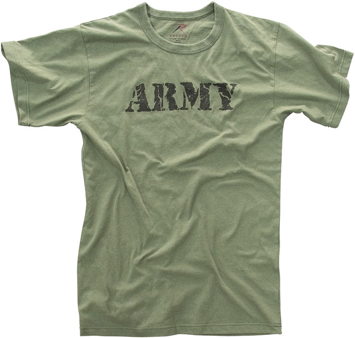 Olive Drab Distressed Army Official Logo T-Shirt d55e14fedab