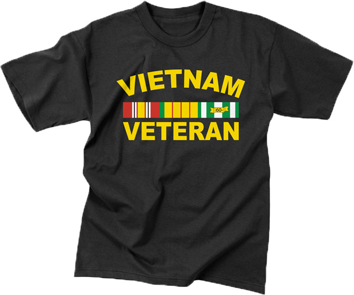Black Military Vietnam Veteran Short Sleeve T-Shirt bc77c7a179c