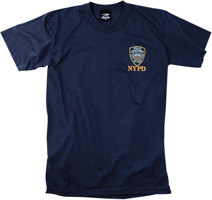59941dc6 More Views. Navy Blue Design Officially Licensed Embroidered NYPD Graphic T- Shirt
