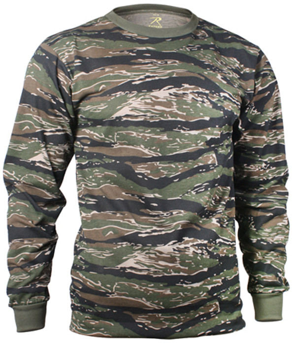 Tiger Stripe Camouflage Tactical Long Sleeve Military T-Shirt 61c35a44d47