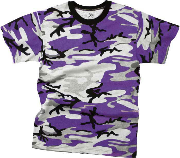 Purple Camouflage Kids Military Tactical T-Shirt 40fbdc5ed12