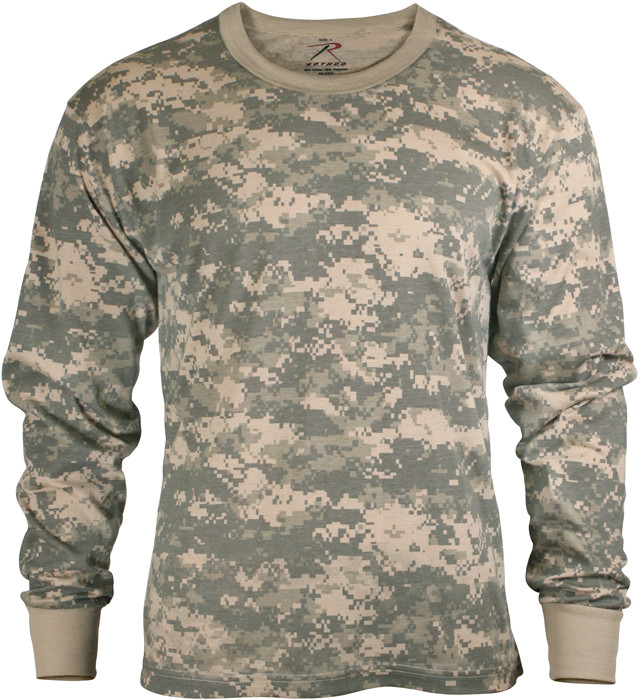 Kids ACU Digital Camouflage Tactical Camo Long Sleeve T-Shirt ... eaf129e410b