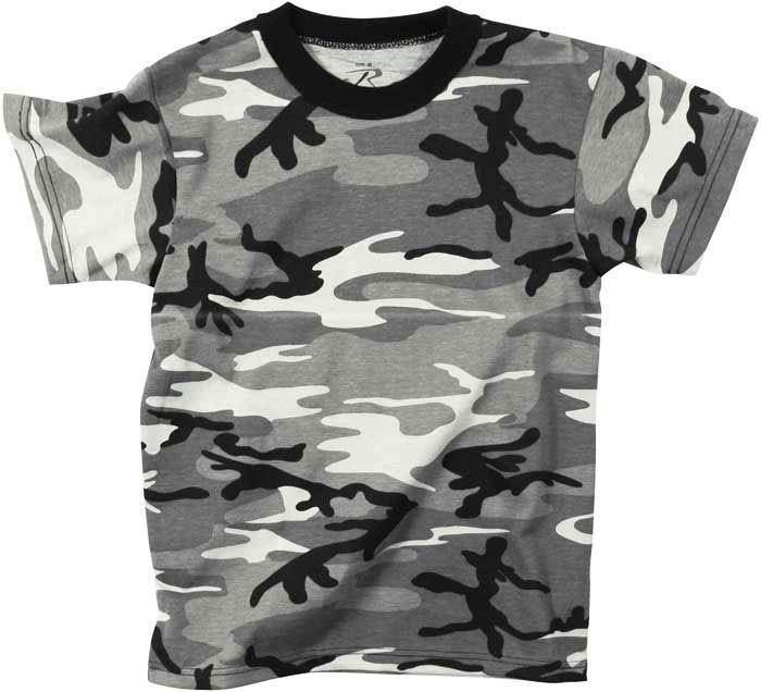 City Camouflage Kids Military Tactical T-Shirt 2d721d34c71