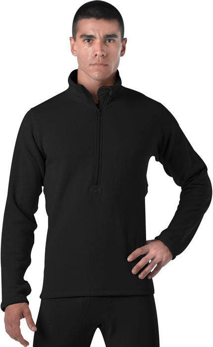 Black Military Generation III Level II Mid-Weight Thermal Shirt f847d455438
