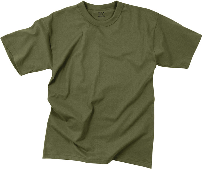 More Views. Olive Drab 100% Cotton Plain Solid Military T-Shirt 2213c01fe06