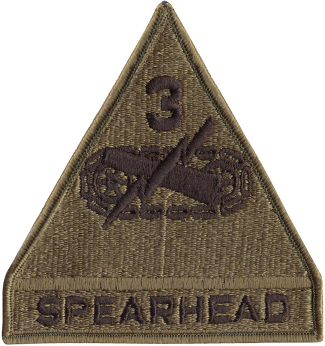 US Army Spearhead 3rd Armored Division Subdued Military Patch