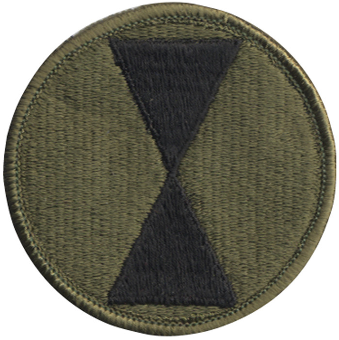 US Army 7th Infantry Division Subdued Military Patch ff7d919e107