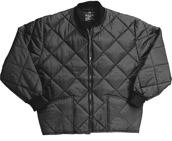 Black Military Nylon Diamond Quilted Flight Jacket 8d0399bd8aa