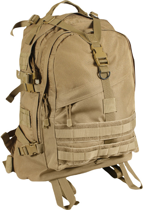Coyote Tan Military MOLLE Large Transport Assault Pack Backpack 07fa709f442