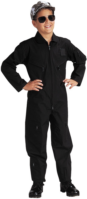 Kids Black US Air Force Style Military Costume Flight Suit 69595748dc7