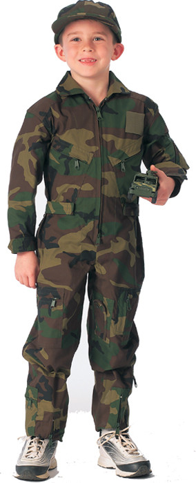 Kids Woodland Camouflage US Air Force Military Costume Flight Suit 49424233807