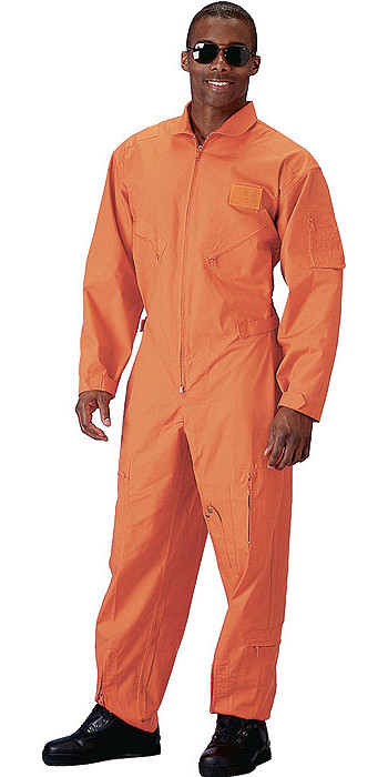 Orange Military Air Force Style Flight Suit Coveralls 61df91d742e
