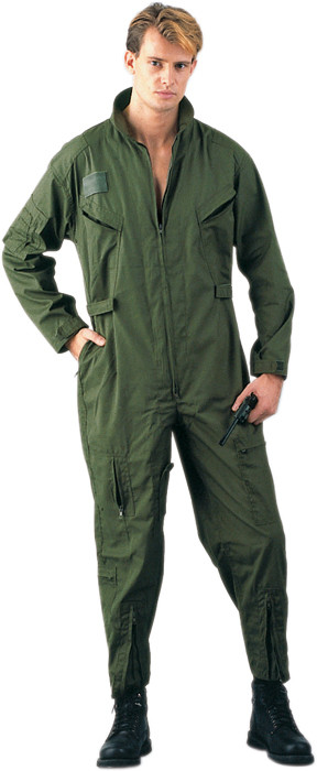 Olive Drab Military Air Force Style Flight Suit Coveralls f0dcd6adbcd