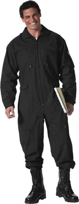 Black Military Air Force Style Flight Suit Coveralls 216747e4191