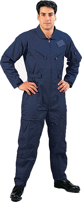 Navy Blue Military Air Force Style Flight Suit Coveralls 7c1bce5a430