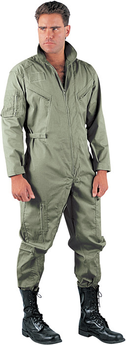 Foliage Green Military Air Force Style Flight Suit Coveralls f7487c79a92
