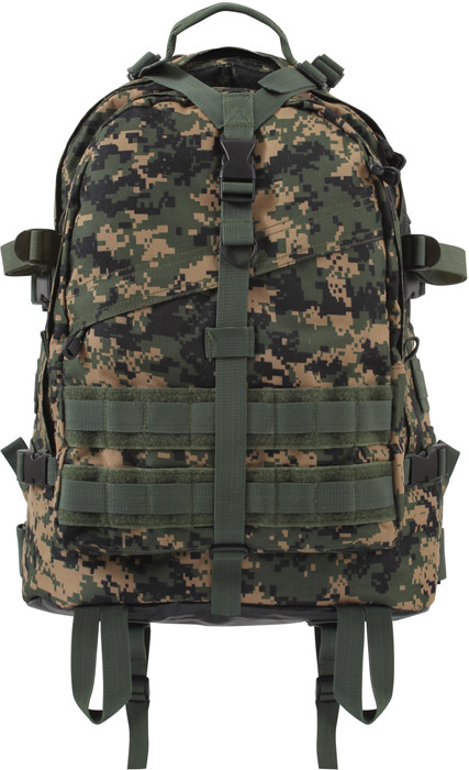 Woodland Digital Camouflage Military MOLLE Large Transport ... e81aa24cd45