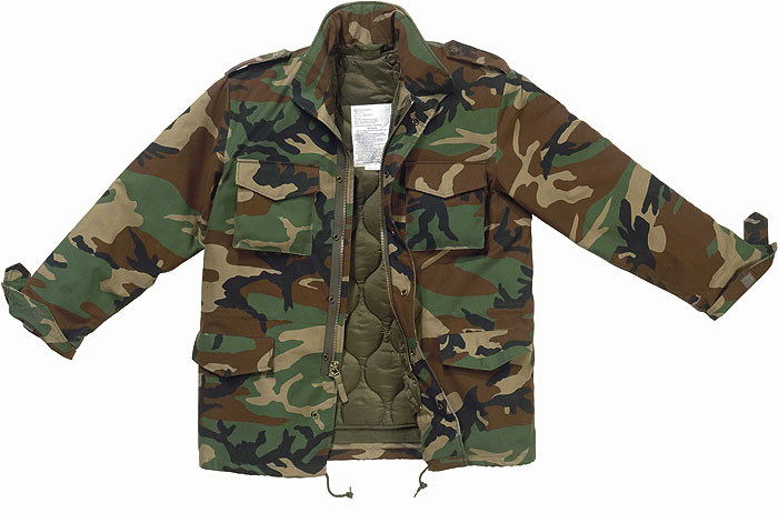 Woodland Camouflage Military M-65 Field Jacket 3c856c41c2d