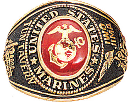 Gold United States Marines Corp USMC Deluxe Engraved Ring 28a07d2d8c1
