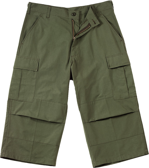 Olive Drab Military Capri Rip-Stop Fatigue BDU Pants 4be6901d315