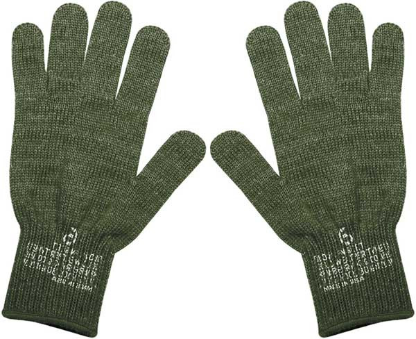 U.S MILITARY STYLE D-3A LEATHER GLOVES COLD WET WEATHER SIZE 6 X LARGE W//LINER