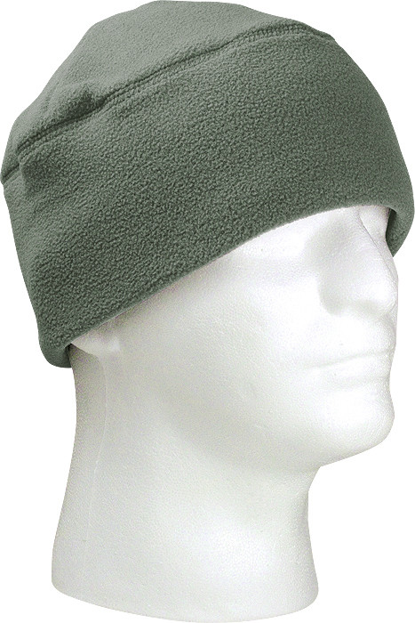 11452b9480b7f Foliage Green Army Polar Fleece Beanie Watch Cap