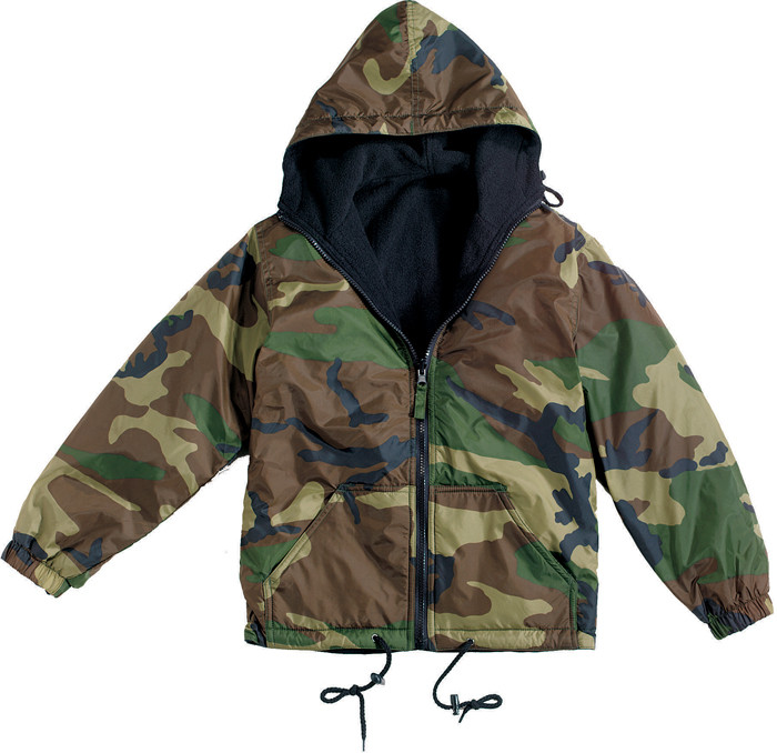 Woodland Camouflage Military Tactical Reversible Fleece Jacket 978be2c1f35