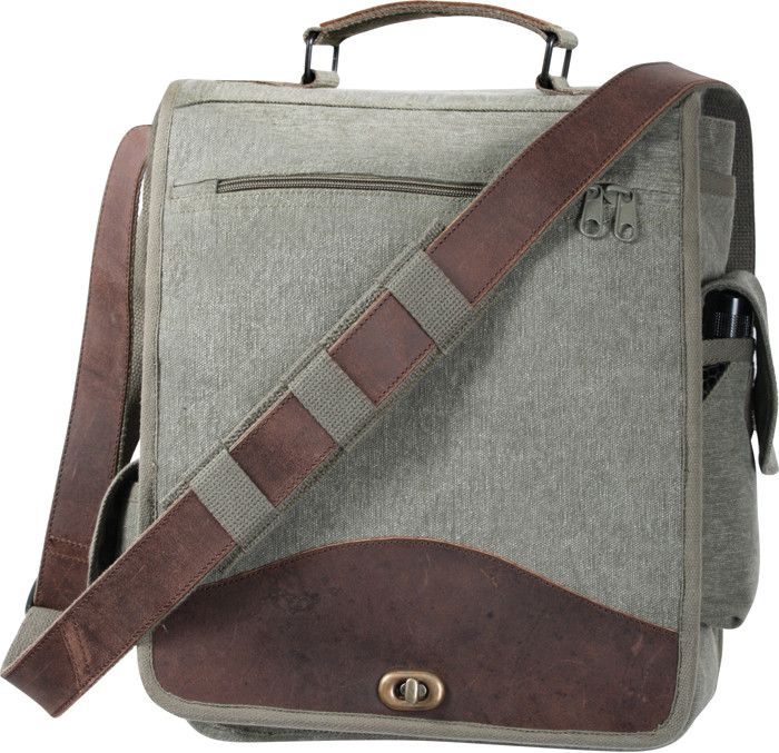 Olive Drab Vintage M-51 Engineers Field Journey Military Laptop Bag faf19a0ce4e