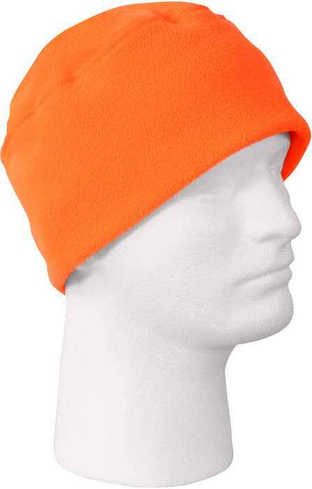 Safety Orange Polar Army Fleece Cap Beanie Watch Cap 000a440329b