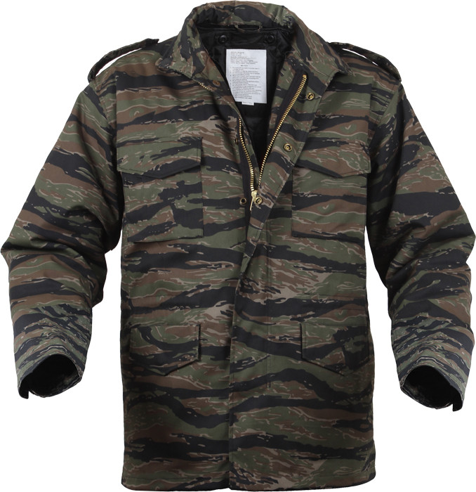 Tiger Stripe Camouflage Military M-65 Field Jacket 17397e34e40