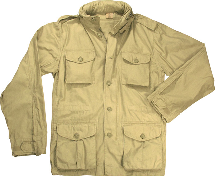 Khaki Vintage Military Tactical Lightweight M-65 Field Jacket cff2216d7c0