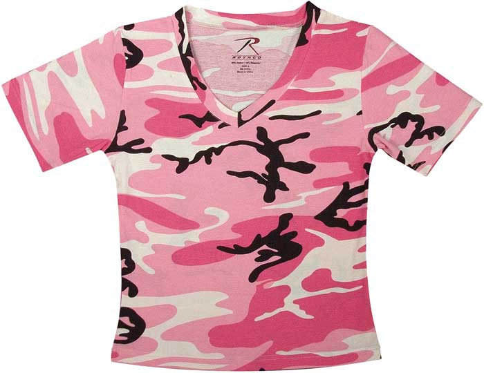Pink Camouflage Women s Military Tactical V-Neck T-Shirt 51be04eb6d