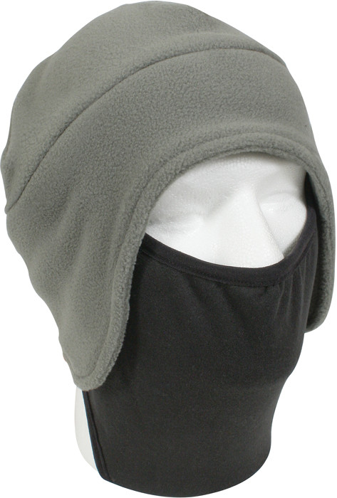 Foliage Green Convertible Fleece Beanie Cap   Polyester Face Mask 21979769e47