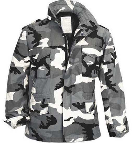 City Camouflage Military M-65 Field Jacket 17ccccc7e5c