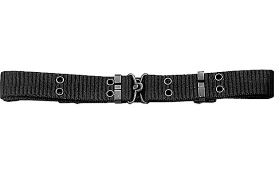 Black Thin Mini Military Pistol Belt with Metal Buckle 7f6fb488939