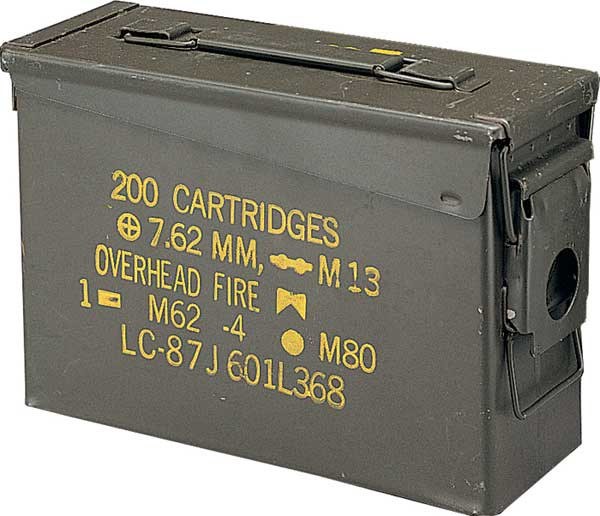 .30 Cal USED Metal Original US Military Surplus M19A1 Ammo Can 62a4d9552f1