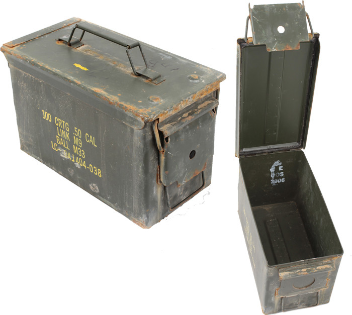 50 cal used metal original us military surplus m2a1 ammo can for Origine metal resinence