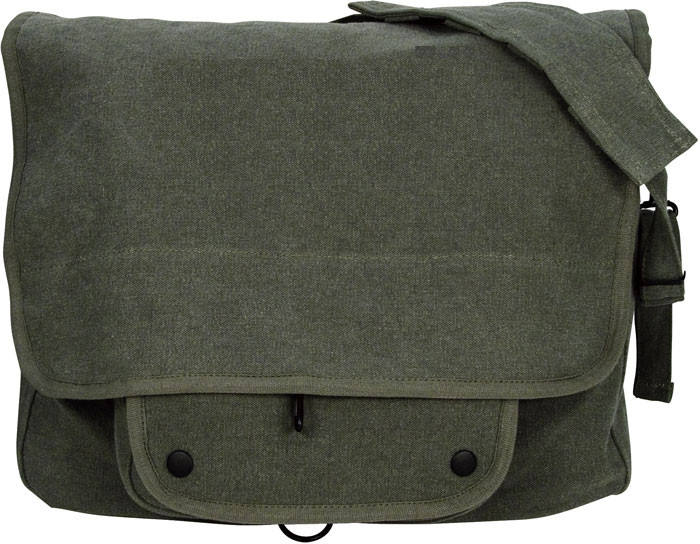 Olive Drab Vintage Military Paratrooper Messenger Shoulder Bag 80acf6538ab