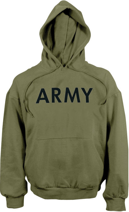 More Views. Olive Drab ARMY Physical Training Hooded Sweatshirt 960fd3e58b5