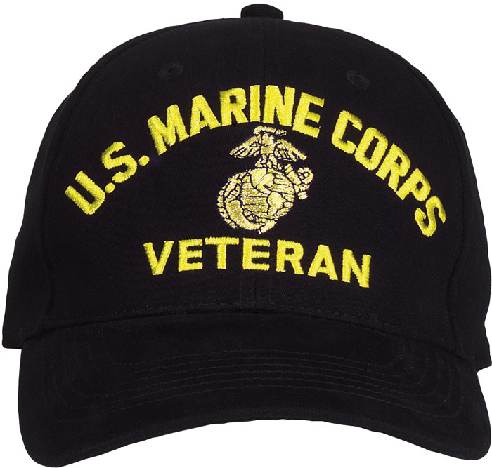 b15ed3f5977 More Views. Black US Marine Corps Globe   Anchor Veteran Adjustable Baseball  Hat Cap