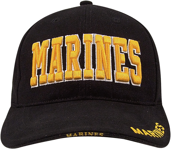 More Views. Black Military Marines Deluxe Low Profile Adjustable Cap 508a63705e1