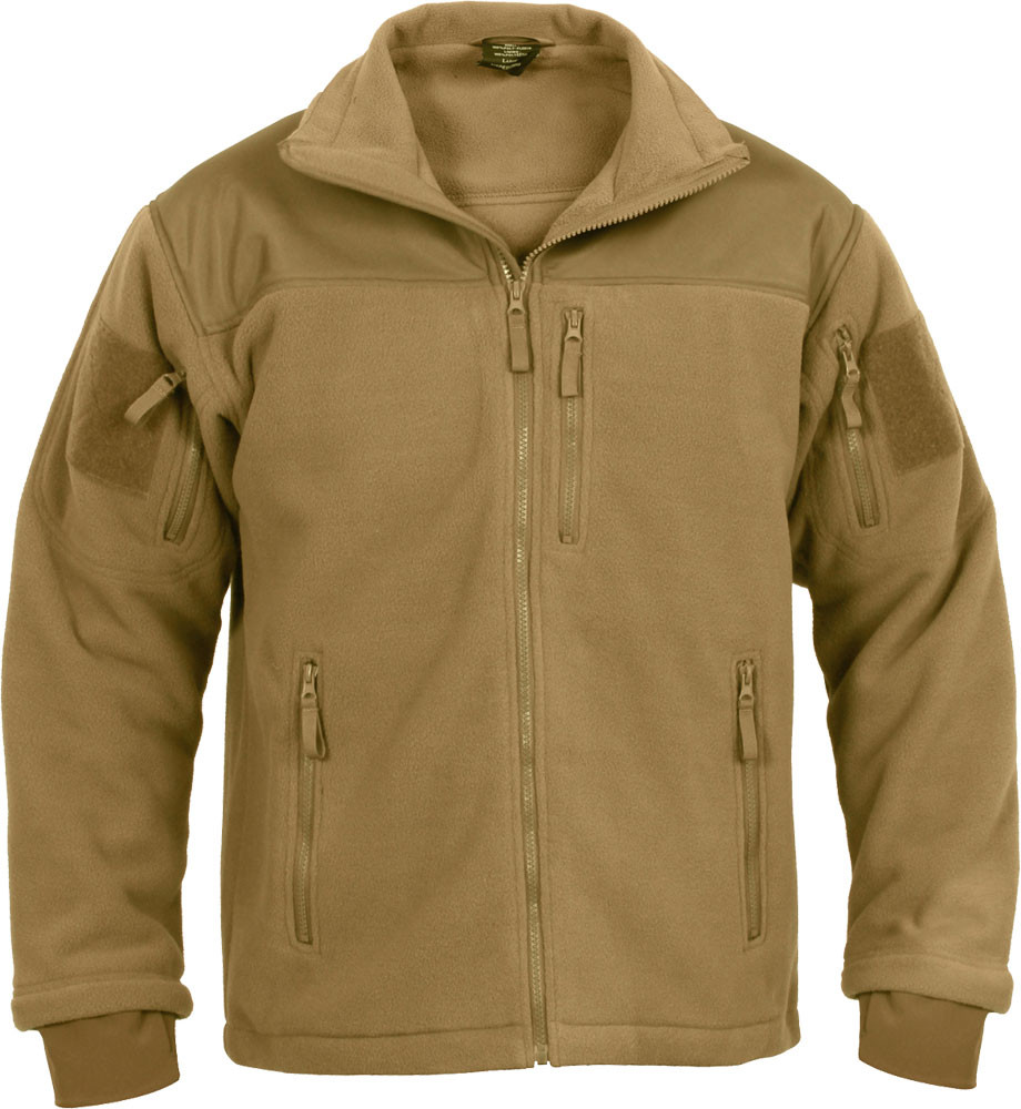 Coyote Brown Special Operations Tactical Fleece Jacket 1329c4cb533