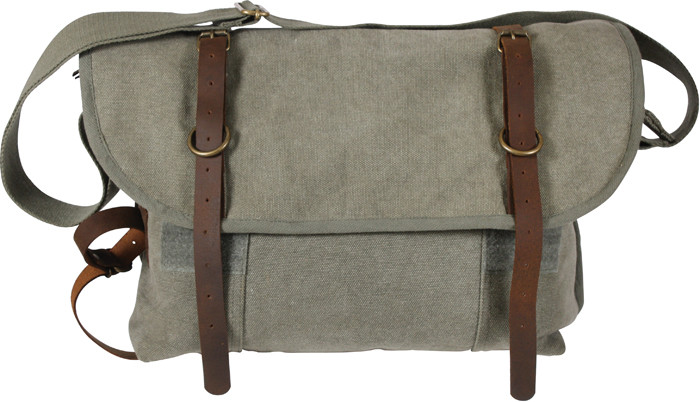 Olive Drab Vintage Military Canvas Messenger Shoulder Bag With ... ac3e8448a94