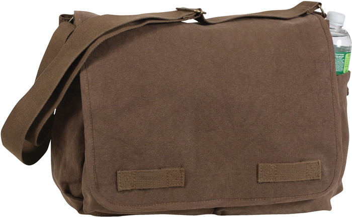 854105bbb7 Earth Brown Heavy Weight Classic Messenger Shoulder Bag