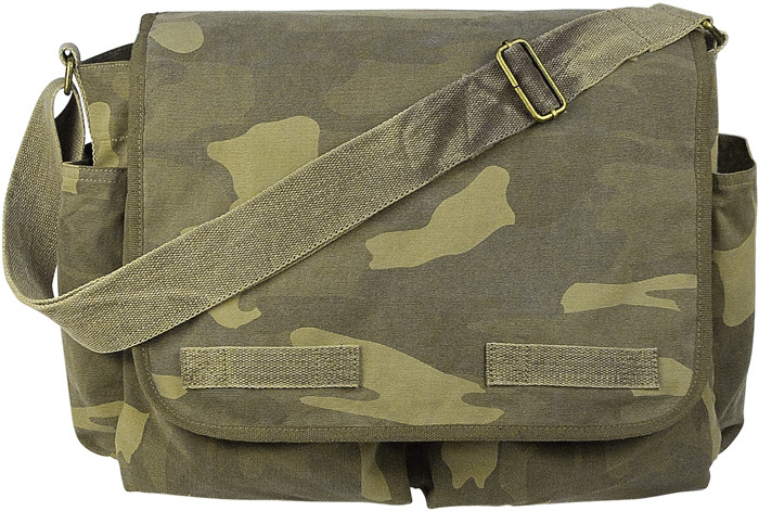 85ed6c1d484f More Views. Woodland Camouflage Heavy Weight Classic Messenger Shoulder Bag
